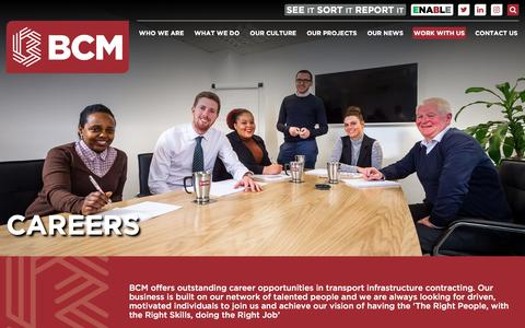 Screenshot of Jobs Page bcmconstruction.co.uk - Careers | BCM - captured May 31, 2017