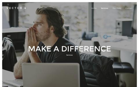 Screenshot of Services Page vector4.com - Software development, Web, Design, Consultancy — Vector 4 - captured Oct. 29, 2014