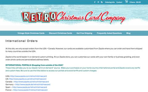 International Orders - Retro Christmas Cards
