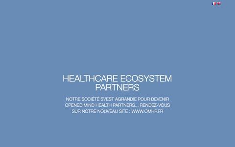 Screenshot of Home Page he-partners.fr - HE Partners   Architecte du Parcours de Santé - captured July 28, 2017