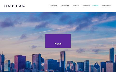 Screenshot of Press Page nexius.com - News - Nexius - captured July 11, 2019