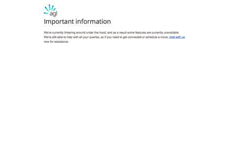 Screenshot of Signup Page agl.com.au - SignUp - Connection | AGL - captured Nov. 2, 2019