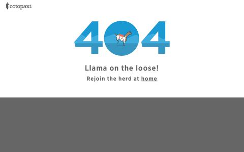 404 Not Found – Cotopaxi