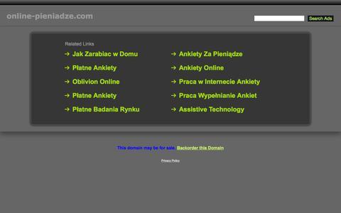 Screenshot of Home Page online-pieniadze.com - Online-Pieniadze.com - captured Nov. 21, 2015