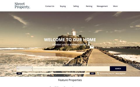 Screenshot of Home Page street.net.au - Street Property Group :: Home - captured Oct. 22, 2018