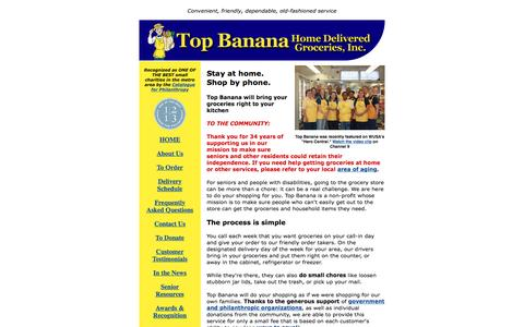 Screenshot of Home Page topbananagrocer.org - Welcome to Top Banana Home Delivered Groceries - captured June 22, 2016