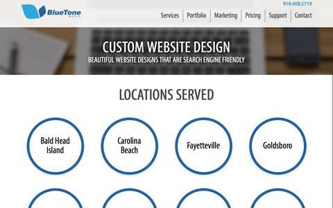 Screenshot of Locations Page bluetonemedia.com - Custom Website Design | BlueTone Media Wilmington - captured July 29, 2016