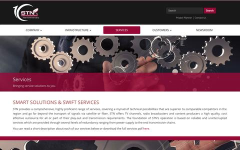 Screenshot of Services Page stn.eu - Services | STN - captured Oct. 2, 2014