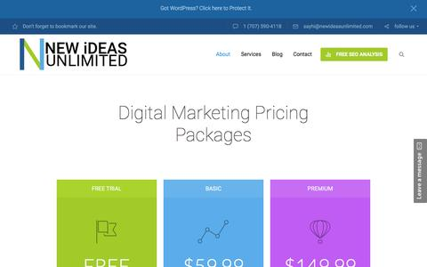 Screenshot of Pricing Page newideasunlimited.com - Pricing Page - New Ideas Unlimited - captured Feb. 24, 2016