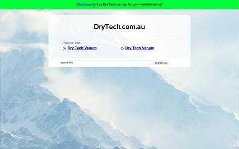 Screenshot of Home Page drytech.com.au - DryTech.com.au - captured Oct. 9, 2018
