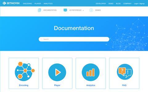 Screenshot of Developers Page bitmovin.com - Bitmovin Knowledge Base - captured Nov. 2, 2017