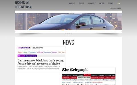 Screenshot of Press Page tg-blackbox.com - TG Blackbox - captured Oct. 7, 2014