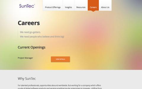 Screenshot of Jobs Page suntecgroup.com - Careers | SunTec Business Solutions - captured Feb. 16, 2016