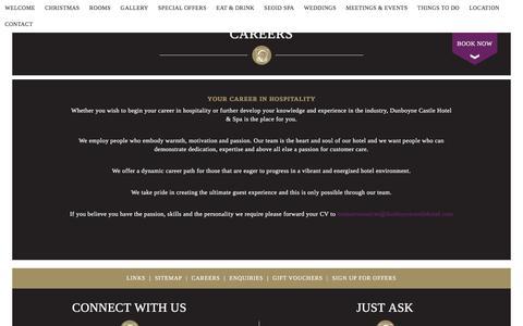 Screenshot of Jobs Page dunboynecastlehotel.com - Careers - captured Oct. 13, 2017
