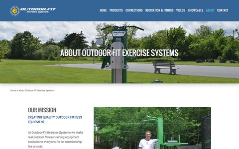 Screenshot of About Page outdoor-fit.com - About Outdoor-Fit Exercise Systems | Outdoor Fitness Equipment - captured Dec. 6, 2016