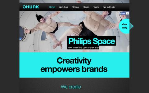 Screenshot of Home Page chunk.nl - CHUNK Creative partner for successful brands - captured Jan. 16, 2015