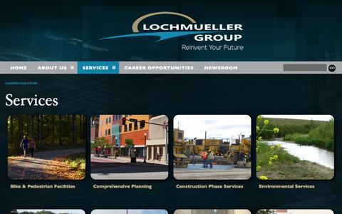 Screenshot of Services Page lochgroup.com - Service | Lochmueller Group - captured Nov. 2, 2014