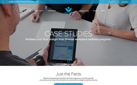 Screenshot of Case Studies Page viverae.com - Case Studies | Workplace Wellness Viverae - captured Dec. 6, 2016