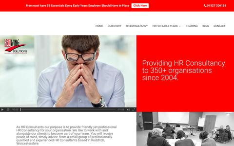 Screenshot of Home Page redwing-solutions.co.uk - HR Consultants Redditch Worcestershire | Serving UK | Great Value - captured Oct. 24, 2017