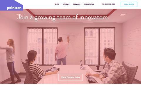 Screenshot of Jobs Page paintzen.com - Jobs | Paintzen - captured Nov. 20, 2015