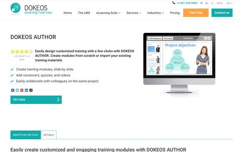 DOKEOS AUTHOR help you create customised training modules with ease