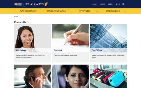 Screenshot of Contact Page jetairways.com - Contact Jet Airways and JetPrivilege - captured June 8, 2017