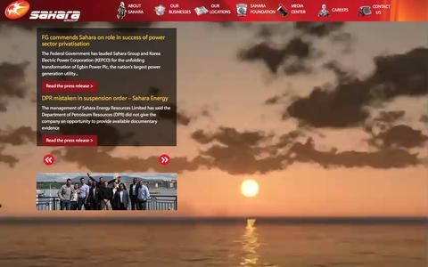 Screenshot of Press Page sahara-group.com - Newsroom | Sahara - captured Dec. 20, 2015