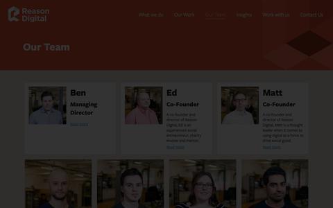 Screenshot of Team Page reasondigital.com - Our Team - Reason Digital - captured Jan. 18, 2019