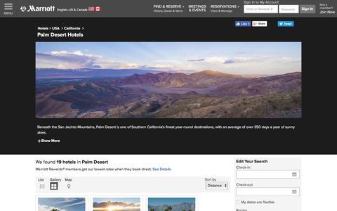 Find Palm Desert Hotels by Marriott