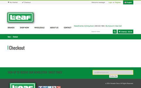 Screenshot of Login Page leafbrands.com - Checkout   Leaf Brands, LLC - captured July 25, 2017