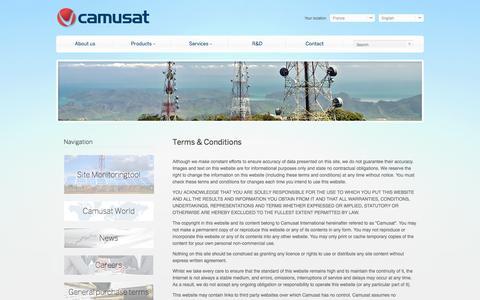 Screenshot of Terms Page camusat.com - Camusat - captured Sept. 27, 2014