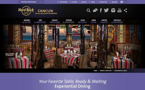 Fine Dining at Hard Rock Hotel Cancun