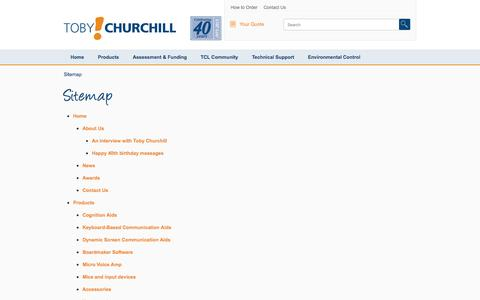 Screenshot of Site Map Page toby-churchill.com - Sitemap - Toby Churchill UK - captured Oct. 7, 2014