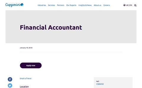 Screenshot of Jobs Page capgemini.com - Financial Accountant – Capgemini UK - captured Jan. 20, 2018