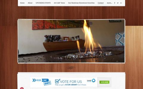 Screenshot of Contact Page weebly.com - Contact - A+Y Design GalleryDowntown Gelato at A+Y - captured Sept. 17, 2014