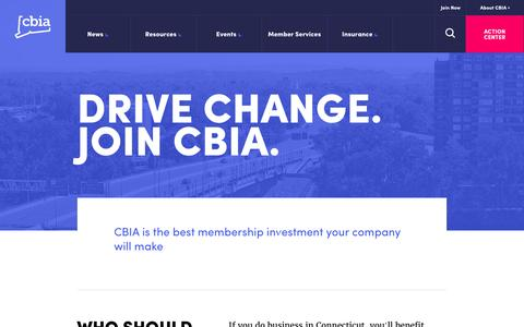 Screenshot of Signup Page cbia.com - Join CBIA | Connecticut Business & Industry Association Membership - captured Oct. 3, 2016