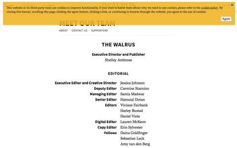 Screenshot of Team Page thewalrus.ca - Meet Our Team | The Walrus - captured June 9, 2018