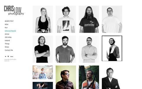 Screenshot of Team Page chrislowphoto.com - Chris Low's Portfolio - Editorial People - captured Nov. 13, 2016
