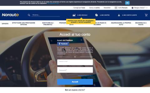 Screenshot of Login Page norauto.it - www.norauto.it - captured Oct. 19, 2018