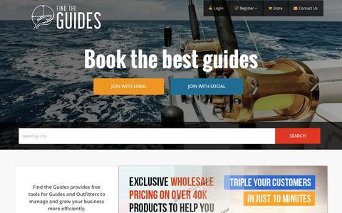 Screenshot of Home Page findtheguides.com - Find The Guides - captured Nov. 25, 2016