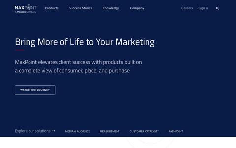 MaxPoint US - MaxPoint is a marketing technology company that generates hyperlocal intelligence to optimize brand and retail performance.