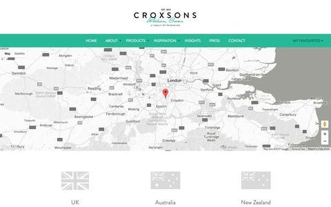 Screenshot of Contact Page croxsons.com - Croxsons // Contact - captured May 23, 2017