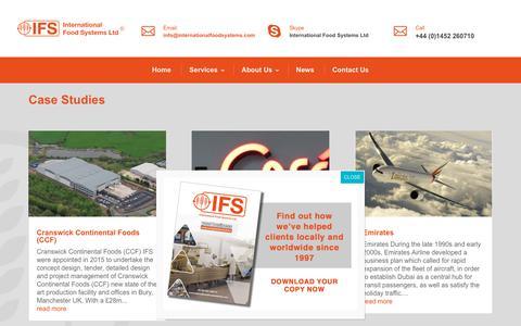 Screenshot of Case Studies Page internationalfoodsystems.com - Case Studies - IFS - captured Oct. 12, 2018