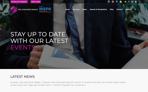 Screenshot of Press Page theconsumerinsight.com - News   The Consumer Insight - captured Sept. 20, 2018