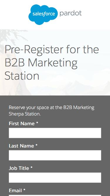 Pre-Register B2B Marketing Sherpa Station