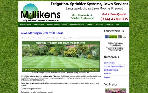 Screenshot of Blog millikensirrigation.com - Dallas Irrigation and Lawn Maintenance Blog - captured Nov. 4, 2014