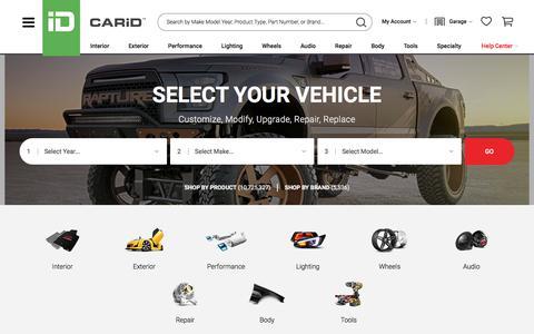 Screenshot of Home Page carid.com - CARiD.com - Auto Parts & Accessories | Car, Truck, SUV, Jeep - captured June 1, 2018