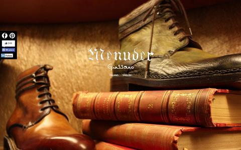 Screenshot of Home Page menuder.it - MENUDER - Giussano: L'arte della scarpa - captured Oct. 6, 2014
