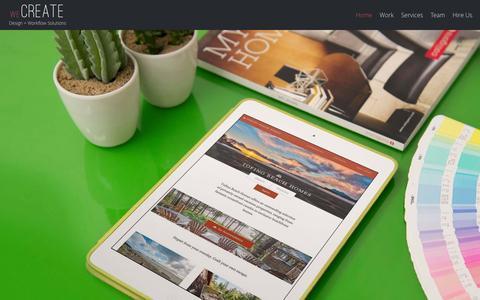 Screenshot of Home Page wecreate.ca - Digital Marketing + Web Design | Vancouver to Tofino - captured Feb. 14, 2016
