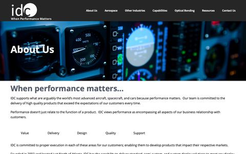 Screenshot of About Page idclcd.com - About Us – IDCLCD - captured Oct. 12, 2018